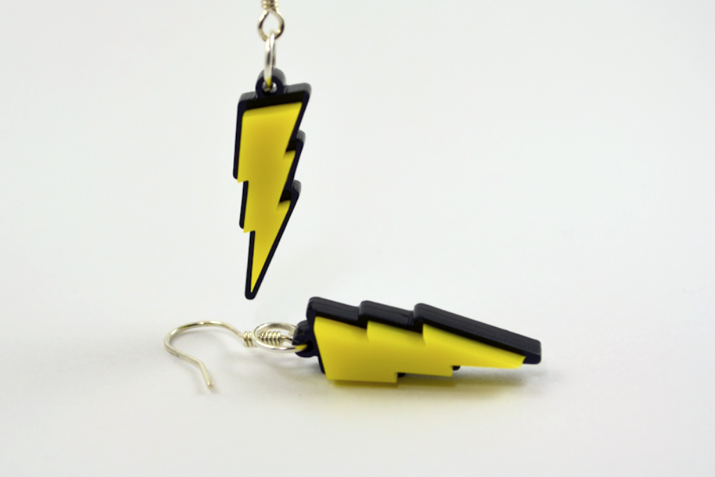 Pokemon Pikachu Lightning Bolt Necklace - Laser Cut Acrylic