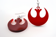 Star Wars Rebel Alliance Necklace and Earring Set - SWTOR Laser Cut Acrylic Jewelry Set