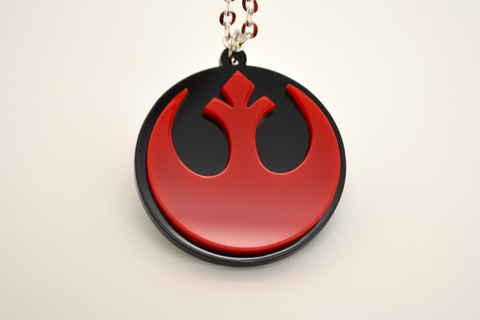Star Wars Rebel Alliance Necklace - SWTOR Laser Cut Acrylic Jewelry