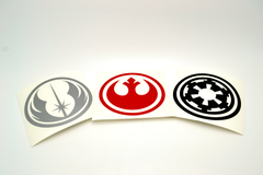 Star Wars Galactic Empire Vinyl Decal - Choose Your Color