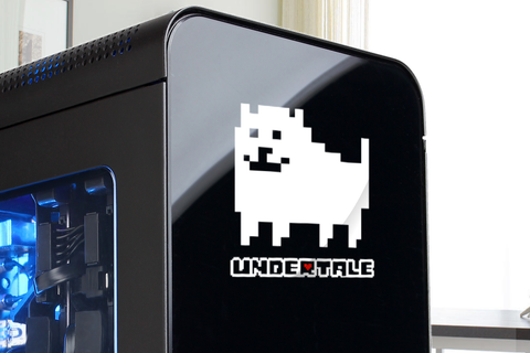 Undertale Logo Annoying Dog Vinyl Decal - Vinyl Sticker - Laptop - Refrigerator - Car Window