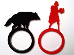 Little Red Riding Hood Laser Cut Acrylic Ring Set