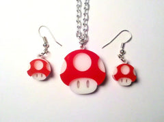 Piranha Plant Laser Cut Acrylic Gaming Necklace