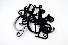 Curlz Letter Charm - Choose Your Letter & Color - Laser Cut Acrylic