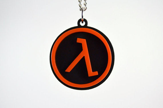 Half Life Lambda Cutout Necklace Limited Time SALE PRICE - Laser Cut Acrylic Pendant Necklace