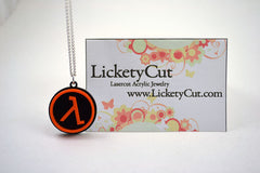Half Life Lambda Necklace - Laser Cut Acrylic Pendant Necklace