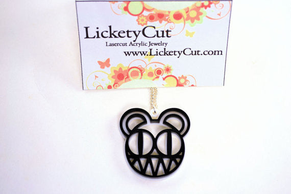 Radiohead Death Bear Laser Cut Acrylic Pendant Necklace