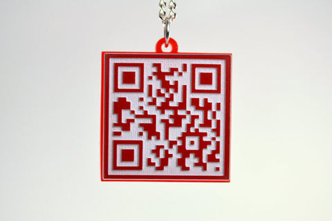 Laser Cut Acrylic Marriage Proposal QR Code Necklace - Will you marry me