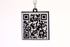 Unique Marriage Proposal QR Code Necklace with Hearts - Will you marry me