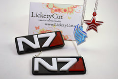 Mass Effect Renegade Pendant Necklace - Laser Cut Acrylic
