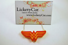 Wonder Woman Pendant Necklace - Laser Cut Acrylic