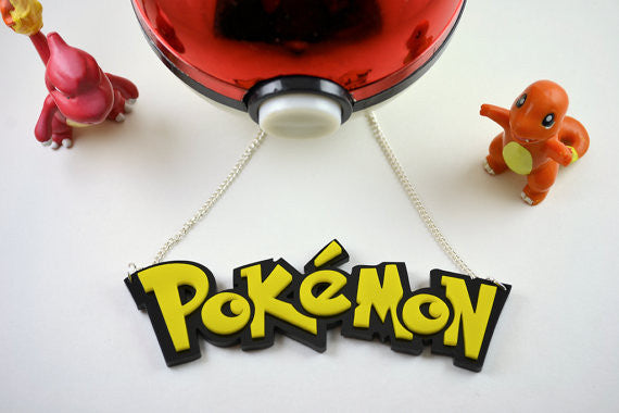 Pokemon Necklace - Laser Cut Acrylic