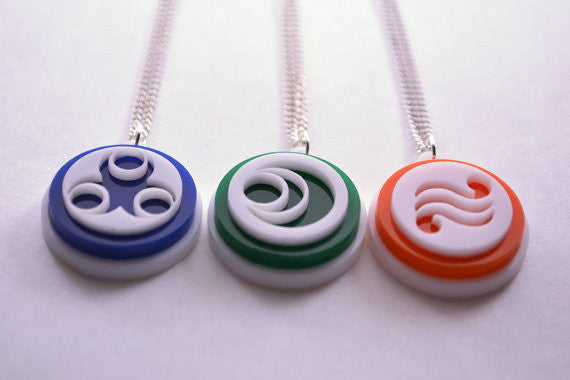 Legend of Zelda Wind Waker Pearls of the Goddesses Necklace Set - Laser Cut Acrylic