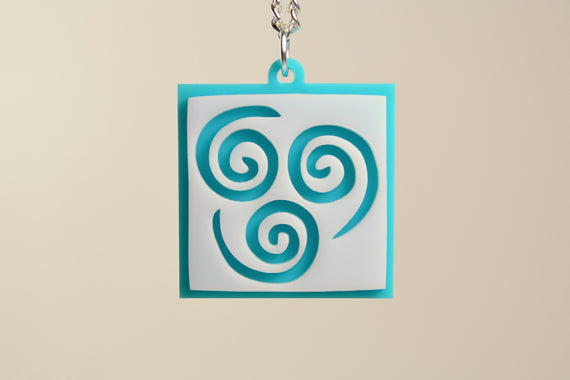 Avatar Air Bender Pendant Necklace - Laser Cut Acrylic