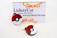 Pokemon Pokeball Laser Cut Acrylic Pendant Necklace