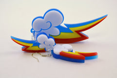 My Little Pony Rainbow Dash Cutie Mark Necklace - Laser Cut Acrylic