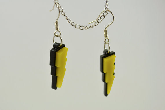 Pokemon Pikachu Lightning Bolt Earrings - Laser Cut Acrylic
