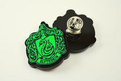 Harry Potter Slytherin House Crest Necklace - Laser Cut and Laser Engraved Acrylic
