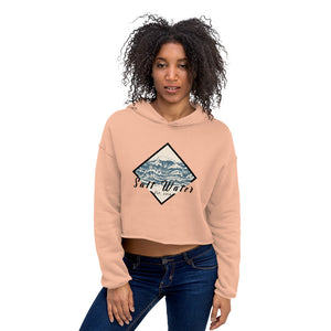 Women's Salt Water Diamond Crop Hoodie