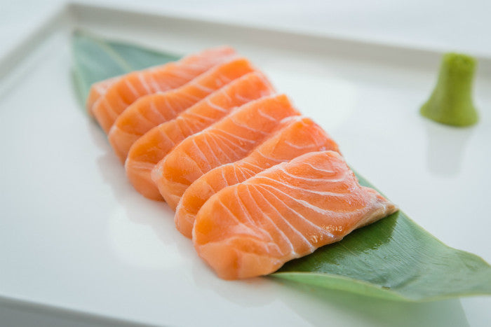 salmon sashimi fish for sushi inc