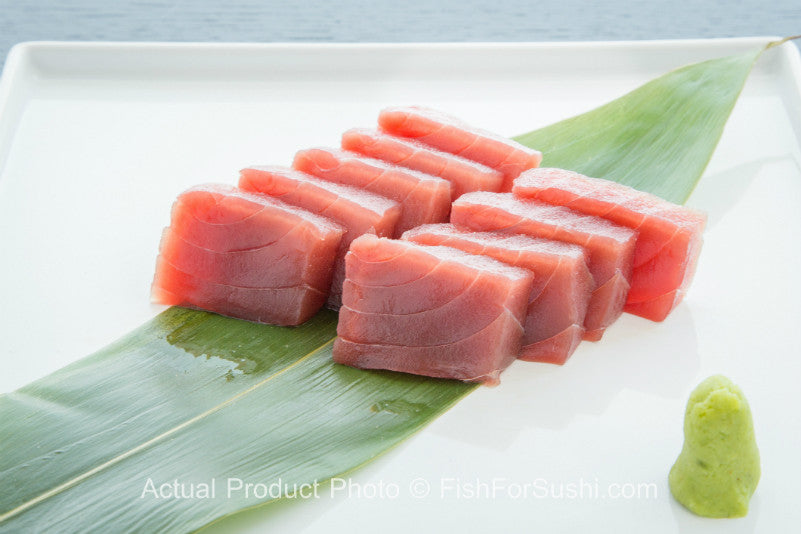 Yellowfin tuna premium 8 oz fish for sushi inc for What does a tuna fish look like