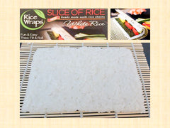 Slice of Rice™ - Sushi Rice Sheet (4 White or Brown Rice Sheets)