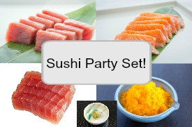 Sushi Party Set 手巻きパーティーセット(Salmon, Tuna, Masago, Scallops, and Wasabi)