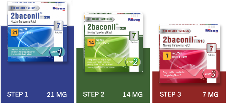 2baconil nicotine patch dosing