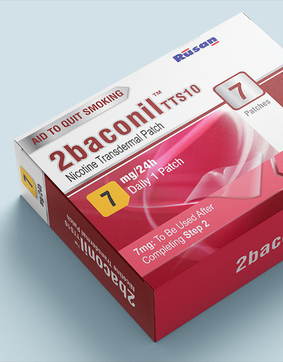2baconil Nicotine 7mg  Patch Therapy