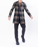 Cappotto chesterfield monopetto blu