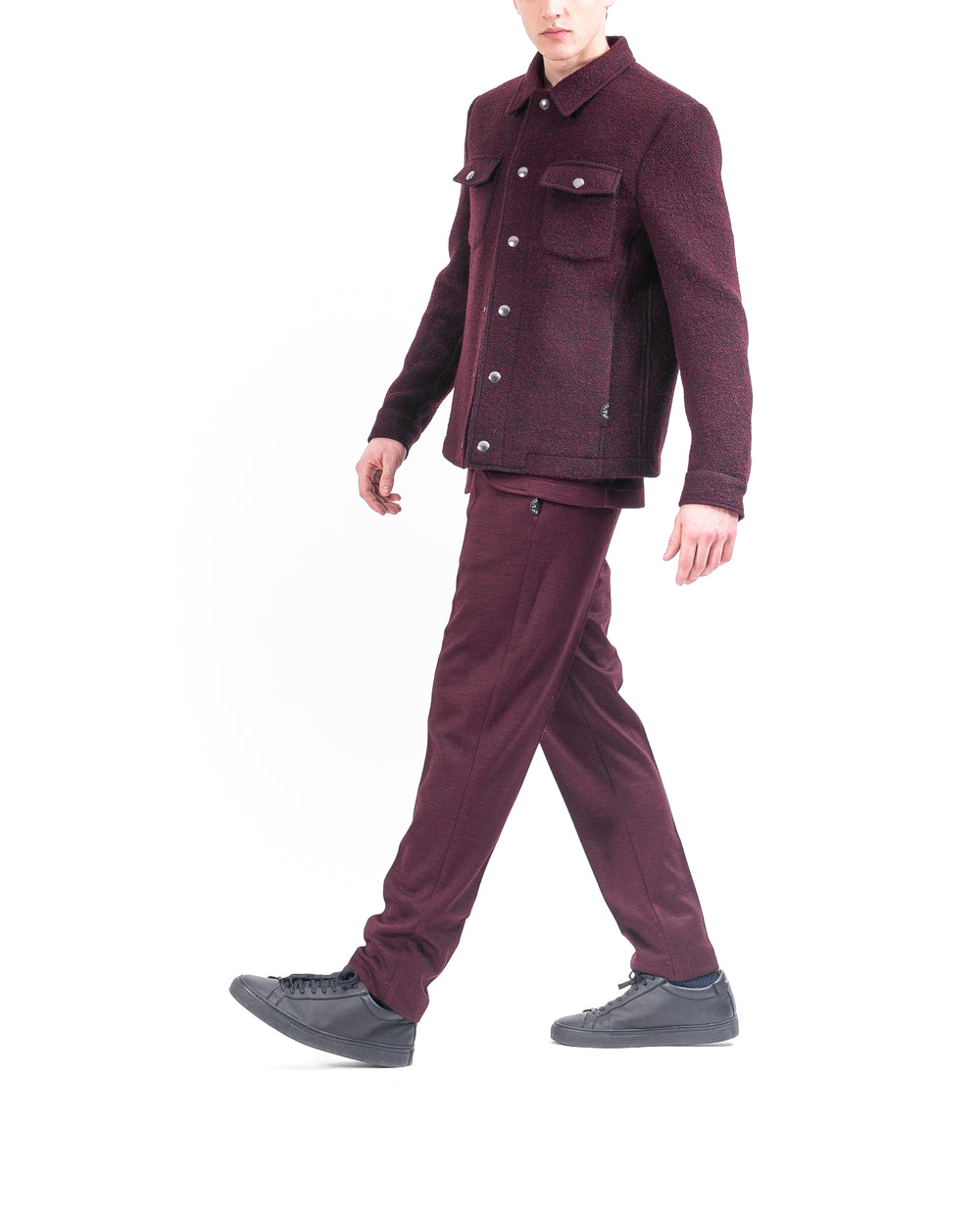 Shacket bordeaux