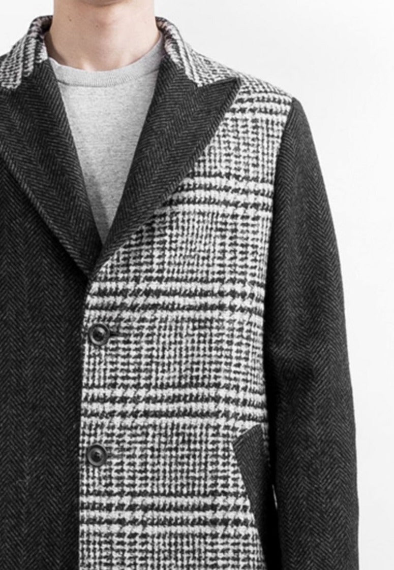 Cappotto lungo in patchwork UPCYCLE