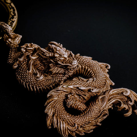 Brass jewelry - Dragon necklace pendant