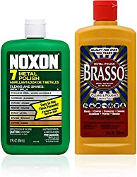 Brasso Cleaner Bundle: Brasso Metal Polish (8oz) and Noxon 7 Liquid Metal Polish (12oz)