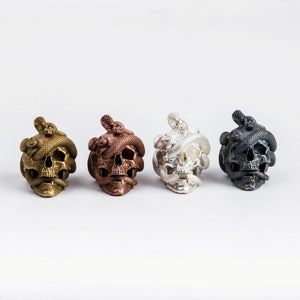 Skull with Vipers (Copper)