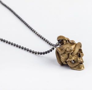 Skull with Vipers (Brass)