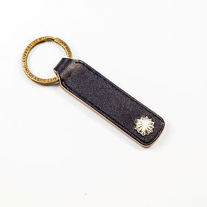 Leather Keyring with Silver Decoration