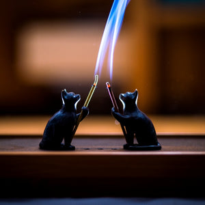 Brass Cat Incense burner