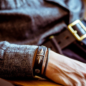 Leather bracelet (Black)