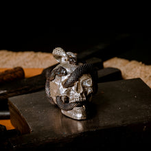 Load image into Gallery viewer, Skull with Vipers (Silver, Limited Edition)
