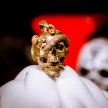 Load image into Gallery viewer, Skull with Vipers (Brass)