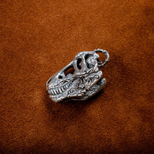 Load image into Gallery viewer, Silver T-Rex Skull