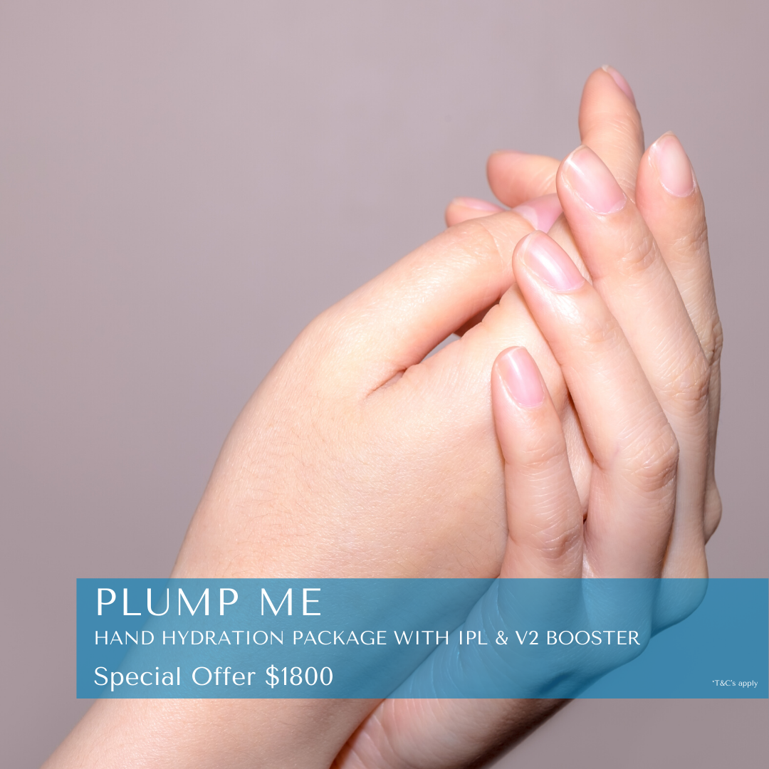 Plump Me winter special - hand hydration package with IPL and v2 skin boosting treatment