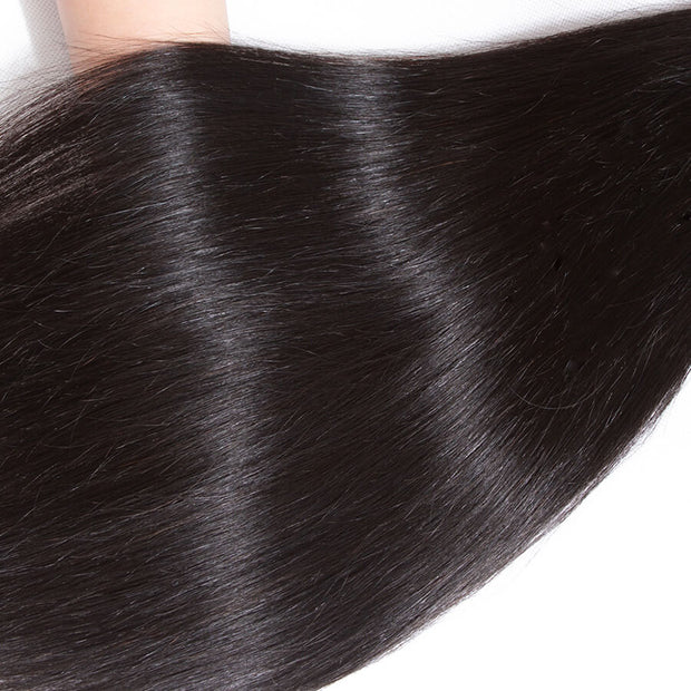 Brazilian Straight Hair 3 Bundles 12A Unprocessed Virgin Human Hair Weave High Quality Can be Dyed/Bleached