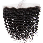 HD Transparent Lace Frontal Deep Wave 13x4 Ear to Ear Lace Frontal Human Hair 12A Best Quality