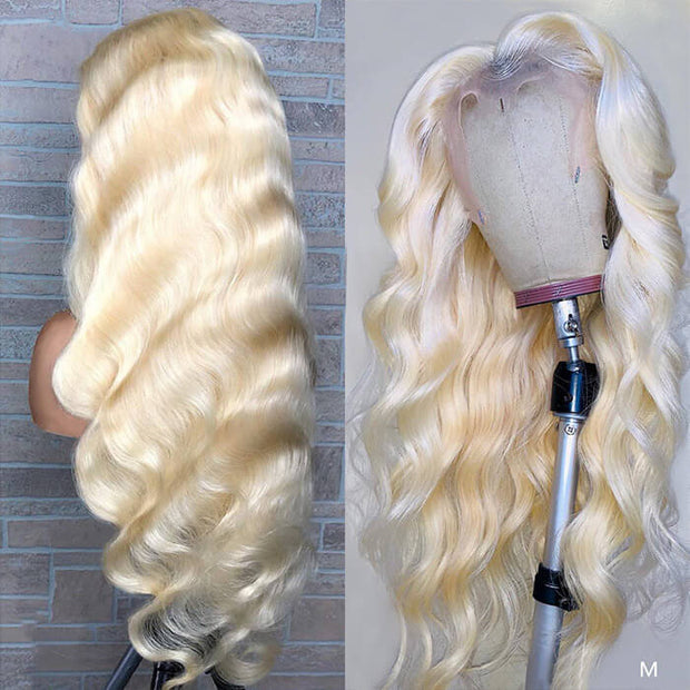 613 Wig Body Wave T Part Lace Wig Human Hair Pre Plucked Transparent Lace Wig
