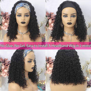 150% Density Full Texture Headband Human Hair Wigs Full Machine Made Full Looking Lace Wig