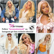 613 Blonde Virgin Hair Body Wave 3 Bundles 100% Unprocessed Human Hair Weave