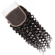 4x4 Lace Closure Curly Human Hair Closure Natural Black Hair Top Swiss Lace
