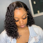 deep wave bob wig human hair
